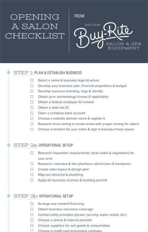 Beauty Salon Business Plan Template Das –ffnen Einer Salon Checkliste Wie Sie Ihr Eigenes Hair