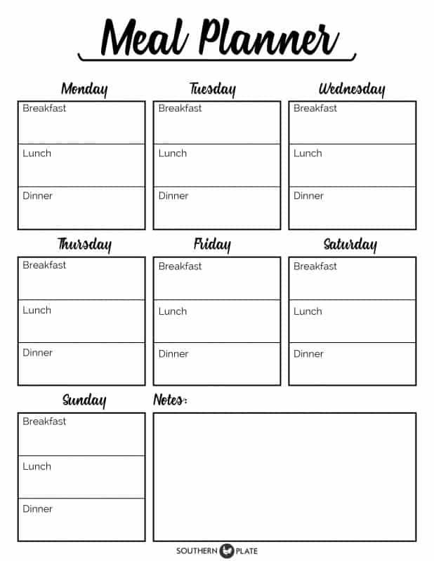 Bi Weekly Meal Planner Template I M Happy to Offer You This Free Printable Meal Planner