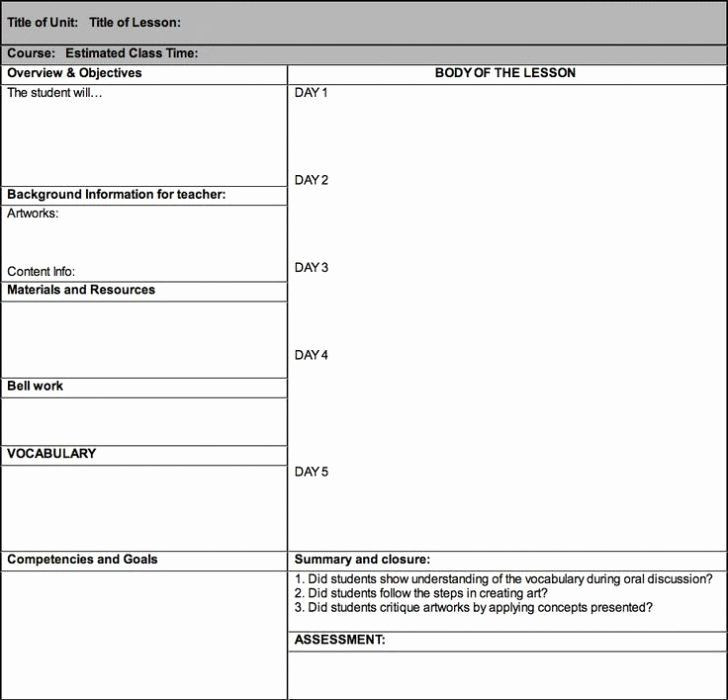 Blank Lesson Plan Template Pdf Siop Lesson Plan Template 1 Best Siop Lesson Plan