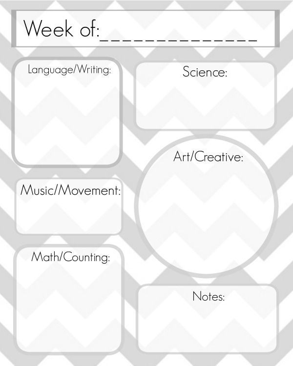 Blank Preschool Lesson Plan Template Image Result for Weekly Lesson Plan Templates