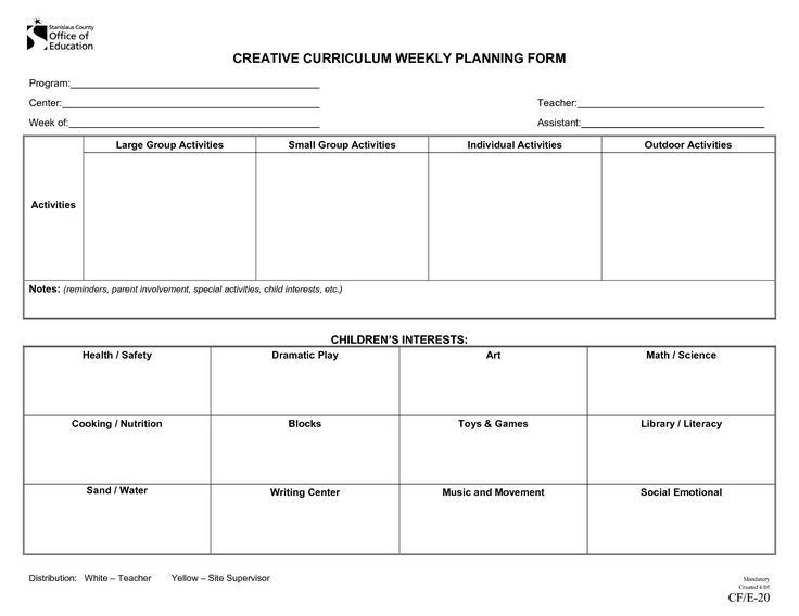 Blank Preschool Lesson Plan Template Pin by Sarah Jakel On Lesson Plan Templates