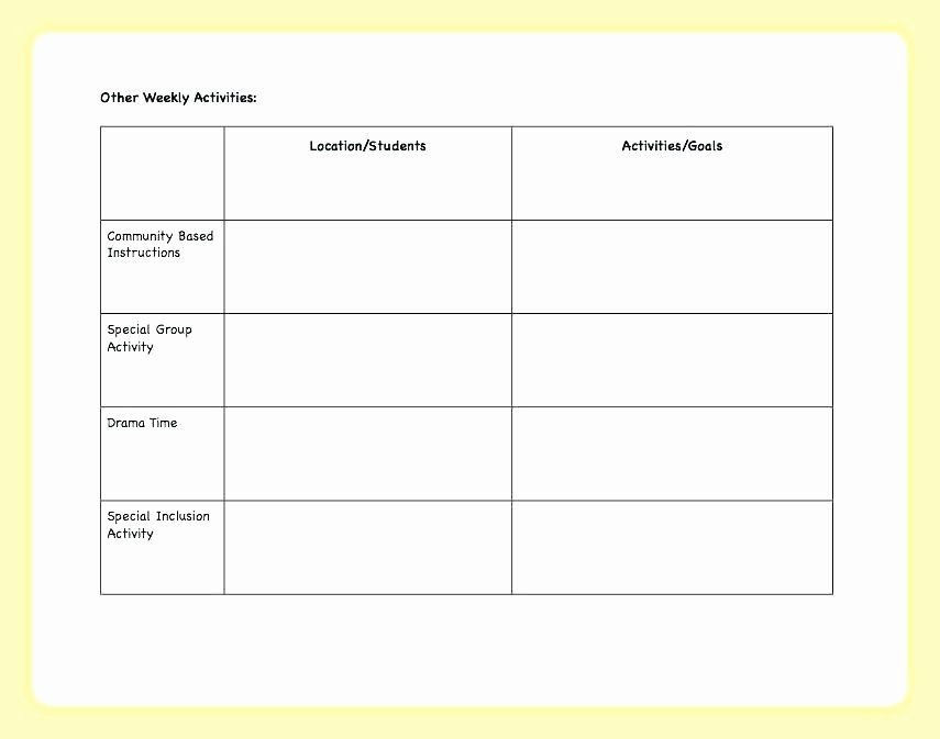 Block Schedule Lesson Plan Template Pin On Lesson Plan Template Printables