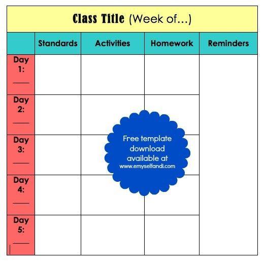 Block Scheduling Lesson Plan Template Teaching Tuesday Classroom organization Binder Lesson Plan