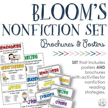 Bloom039s Taxonomy Lesson Plan Template Revised Bloom S Taxonomy Bundle Posters Nonfiction