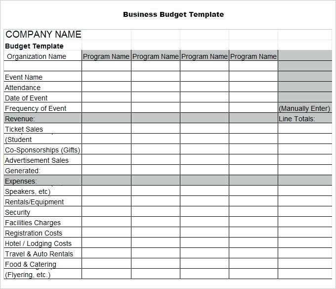 Budget Planner Template Free Business Bud Template 3 Free Word Excel Documents by