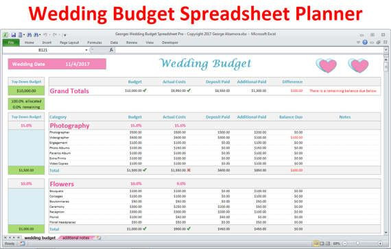 Budget Planner Template Free Pin by Buy Excel Templates On Wedding Planning Binder
