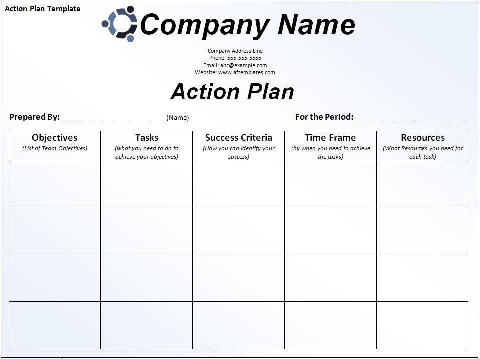 Business Action Plan Template Pin by Valéria Amui On Excel Project Management Templates