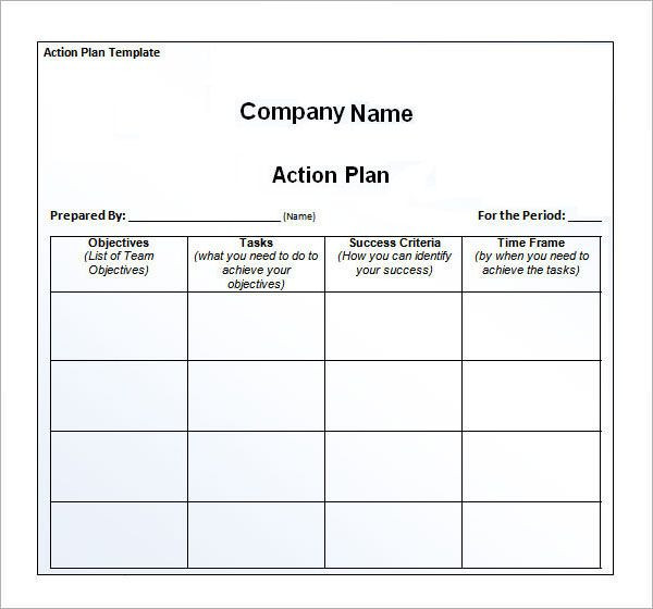 Business Action Plan Template Word Awe Inspiring Action Plan Template for Your Business