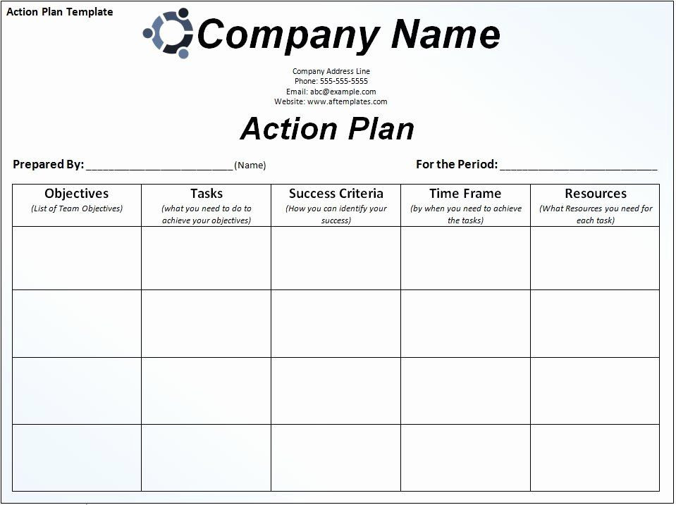 Business Action Plan Template Word Business Action Plan Template Awesome format Business
