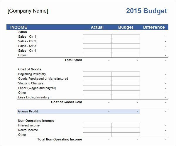 Business Plan Budget Template Small Business Bud Template Elegant Free 16 Sample