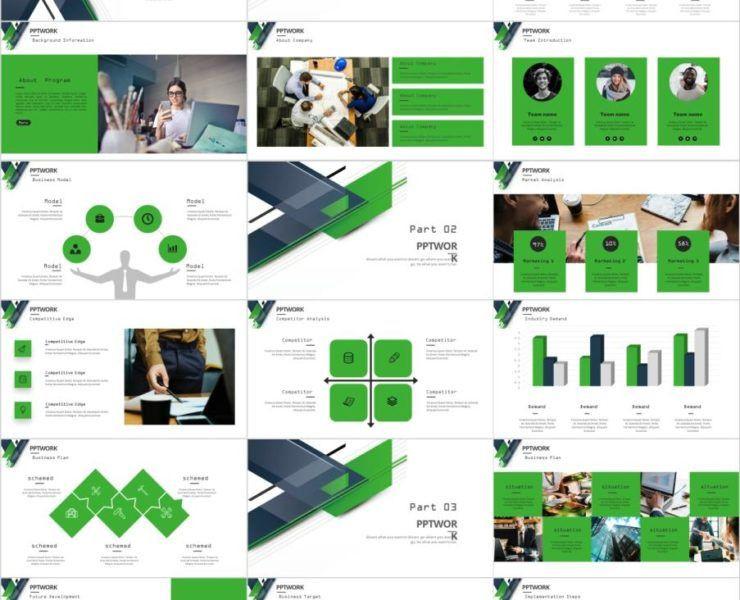 Business Plan Powerpoint Template 32 Business Plan Blue Powerpoint Template
