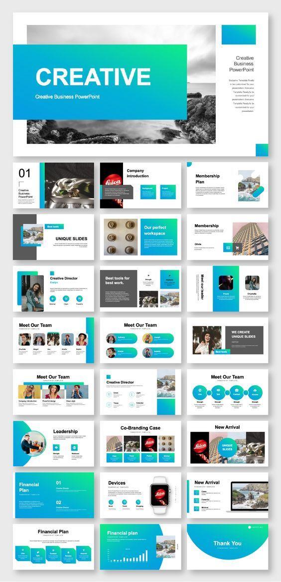 Business Plan Powerpoint Template Blue & Green Business Plan Powerpoint Template – original