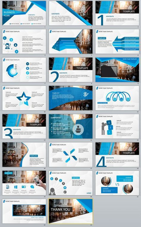 Business Plan Template Ppt 23 Blue Business Plan Powerpoint Template