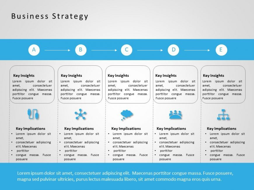 Business Plan Template Ppt Use Free Business Strategy Powerpoint Template to Draw Your