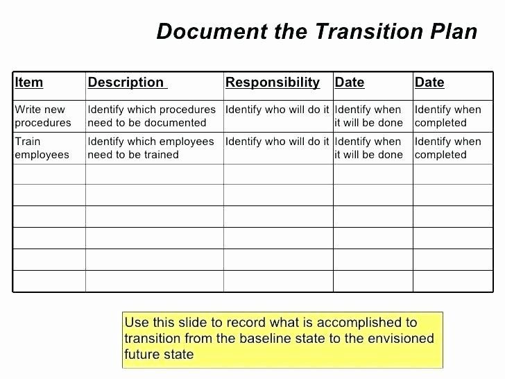 Business Transition Plan Template Work Transition Plan Template Awesome Staff Transition Plan