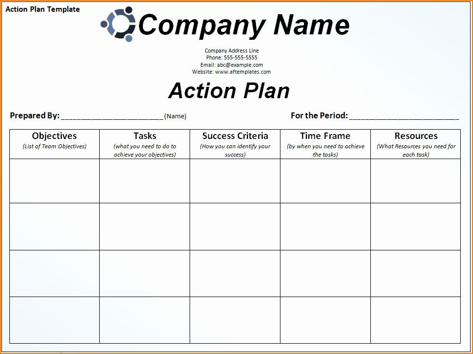Career Action Plan Template Career Action Plan Template Best 6 Sample Action Plan