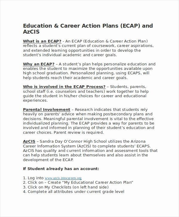 Career Action Plan Template Career Action Plan Template Lovely Career Action Plan