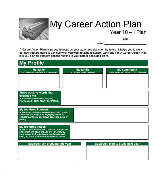Career Action Plan Template Career Plan Template Beautiful 13 Career Action Plan