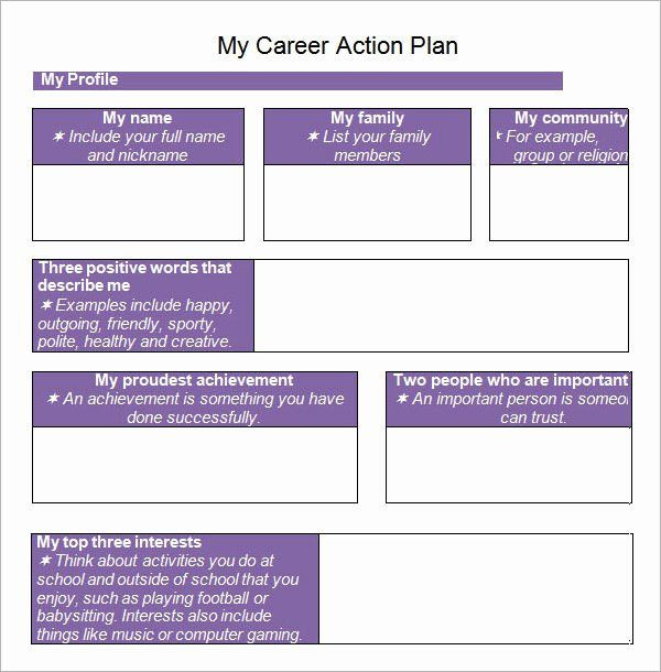 Career Action Plan Template Employment Action Plan Template Elegant Sample Action Plan