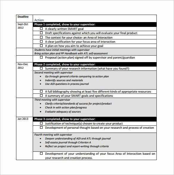 Career Action Plan Template Project Action Plan Template Inspirational Project Action