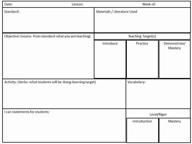 Ccss Math Lesson Plan Template Library Lesson Plan Template Inspirational Pin by Jamie