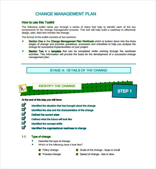 Change Management Plan Template Excel 10 Change Management Plan Templates