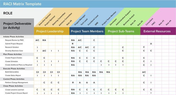 Change Management Plan Template Excel Management Raci Matrix