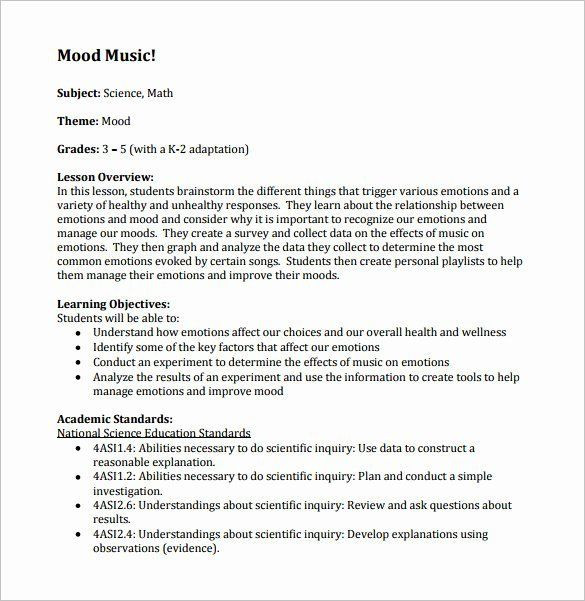 Choir Lesson Plan Template Music Lesson Plan Template Elegant Music Lesson Plan