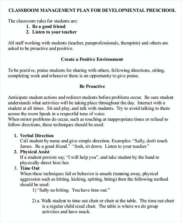Classroom Management Plan Template Elementary 43 Download Free Classroom Management Plan Templates