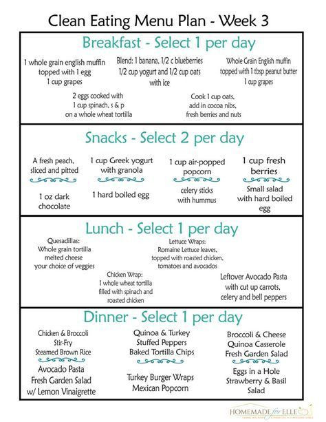 Clean Eating Meal Plan Template Clean Eating Meal Plan Pdf with Recipes Your Family Will