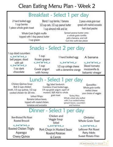 Clean Eating Meal Plan Template Clean Eating Meal Plan Sample Plan for Beginners Enjoy
