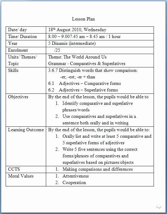 Co Teaching Lesson Plan Template Co Teaching Lesson Plan Template Lovely Co Teaching Lesson