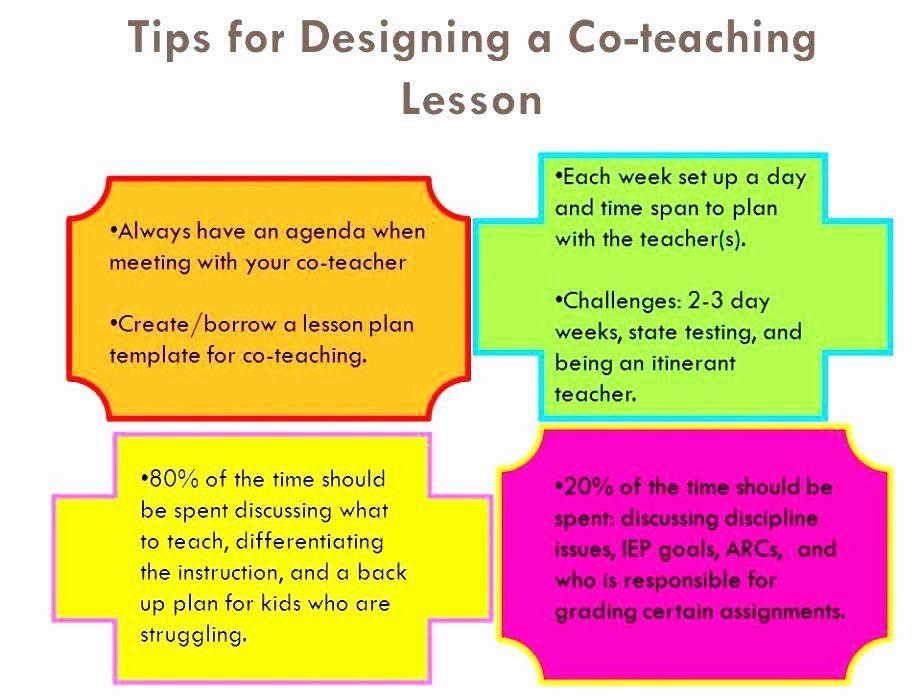 Co Teaching Lesson Plan Template Co Teaching Lesson Plan Template Unique Co Teaching Udl