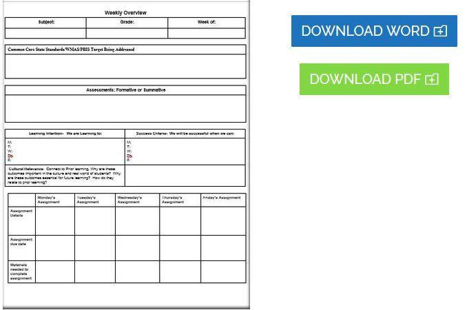 Common Core Lesson Plan Template Editable Mon Core Lesson Plan Template