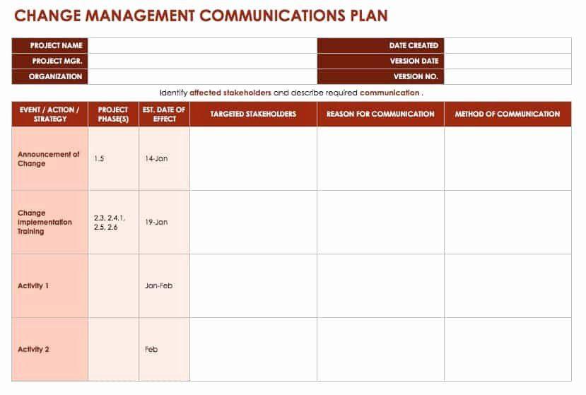 Communication Action Plan Template Munication Action Plan Template Elegant Free Change