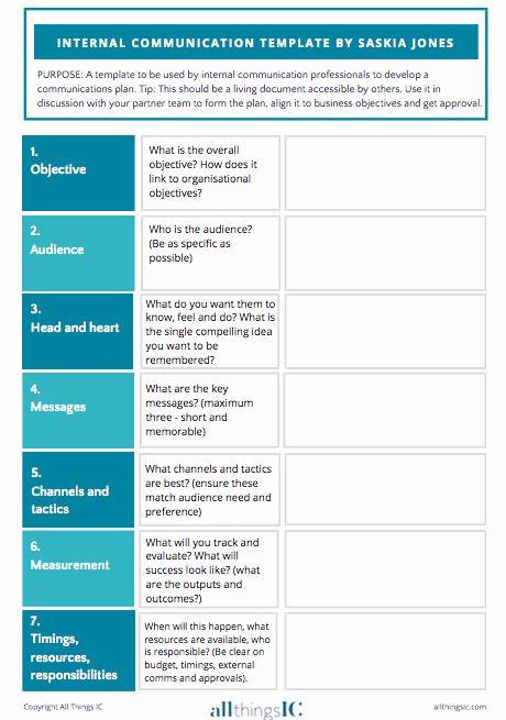 Communication Action Plan Template Munication Plan Template Free Elegant Free Internal Ms