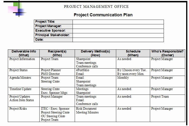 Communication Action Plan Template Sample Munication Plan Template Best Project