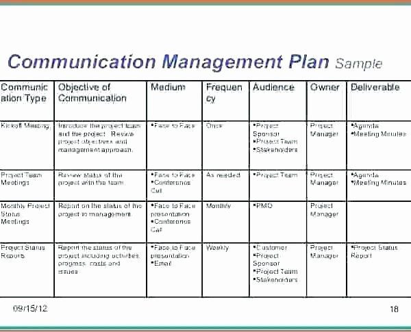 Communication Plan Template Free Munication Plan Template Excel Inspirational Munication