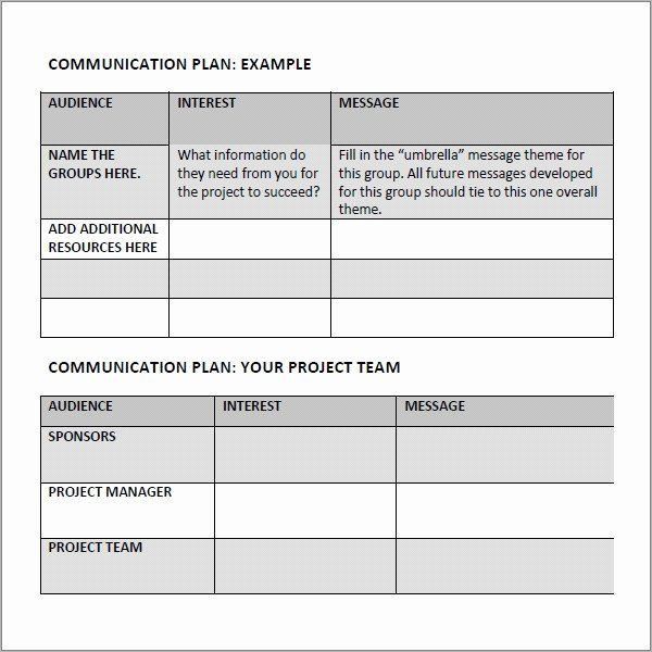 Communication Plan Template Free Munication Plan Template Free New Free 17 Samples