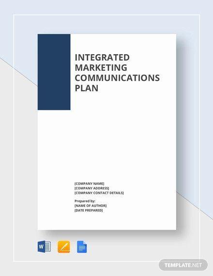 Communications Plan Template Word Marketing Munications Plan Template Elegant Munication