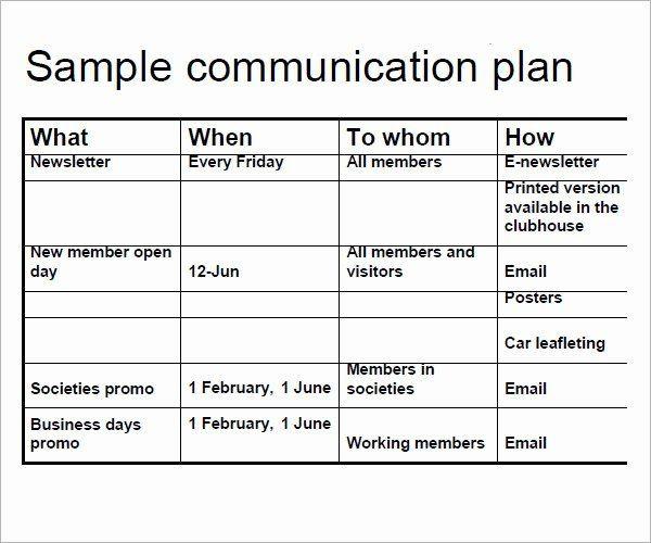 Communications Plan Template Word Strategic Munications Plan Template Luxury 16 Samples