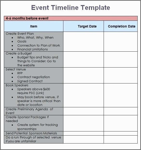 Conference event Planning Checklist Template Conference Planning Timeline