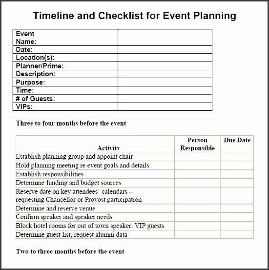 Conference event Planning Checklist Template Party Plan Checklist Template Unique 7 Party Planning