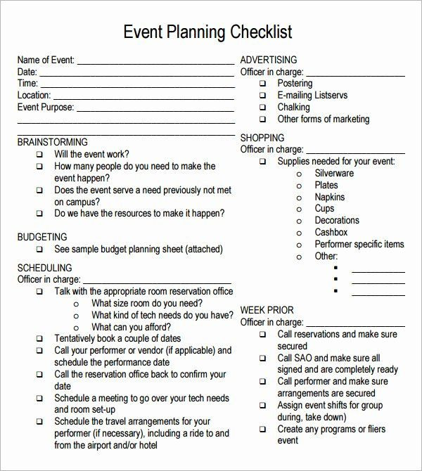Conference Planning Template Checklist Free event Planning Template In 2020