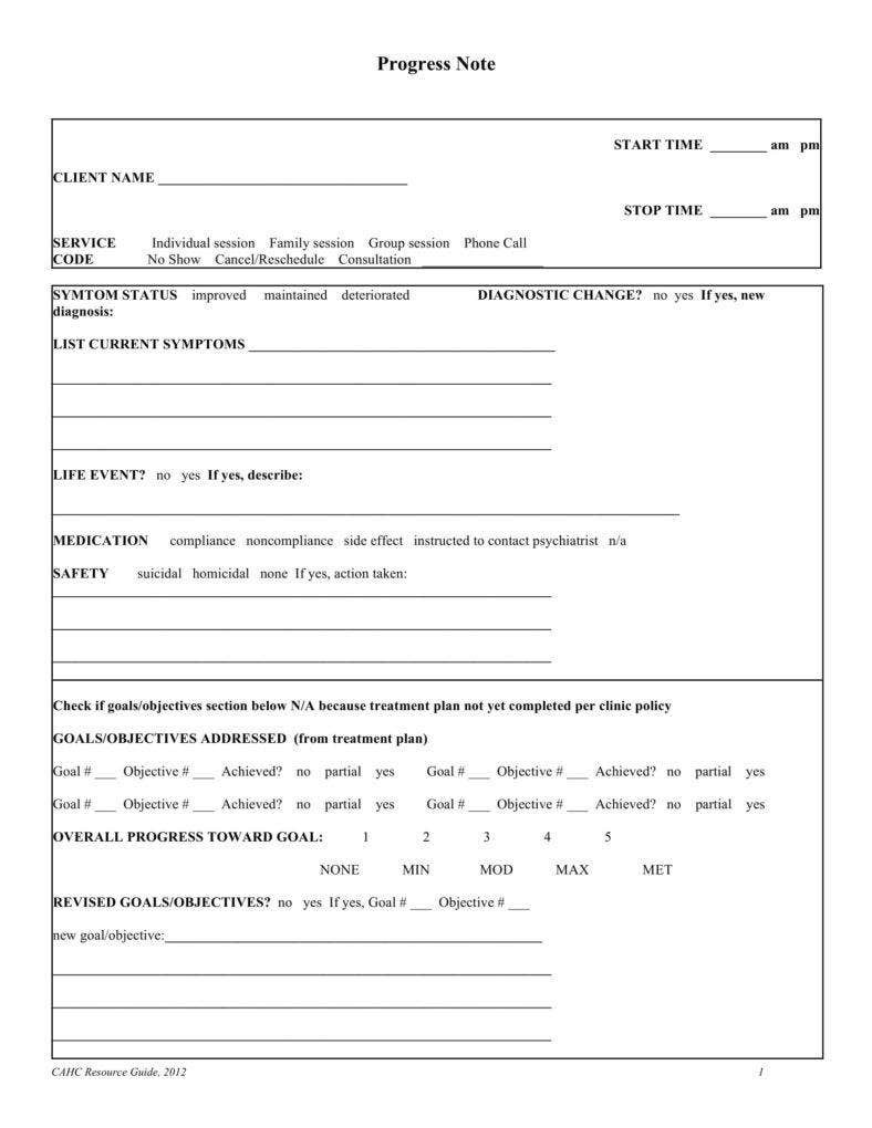 Counseling Treatment Plan Template Pdf 8 Psychotherapy Note Templates for Good Record Keeping