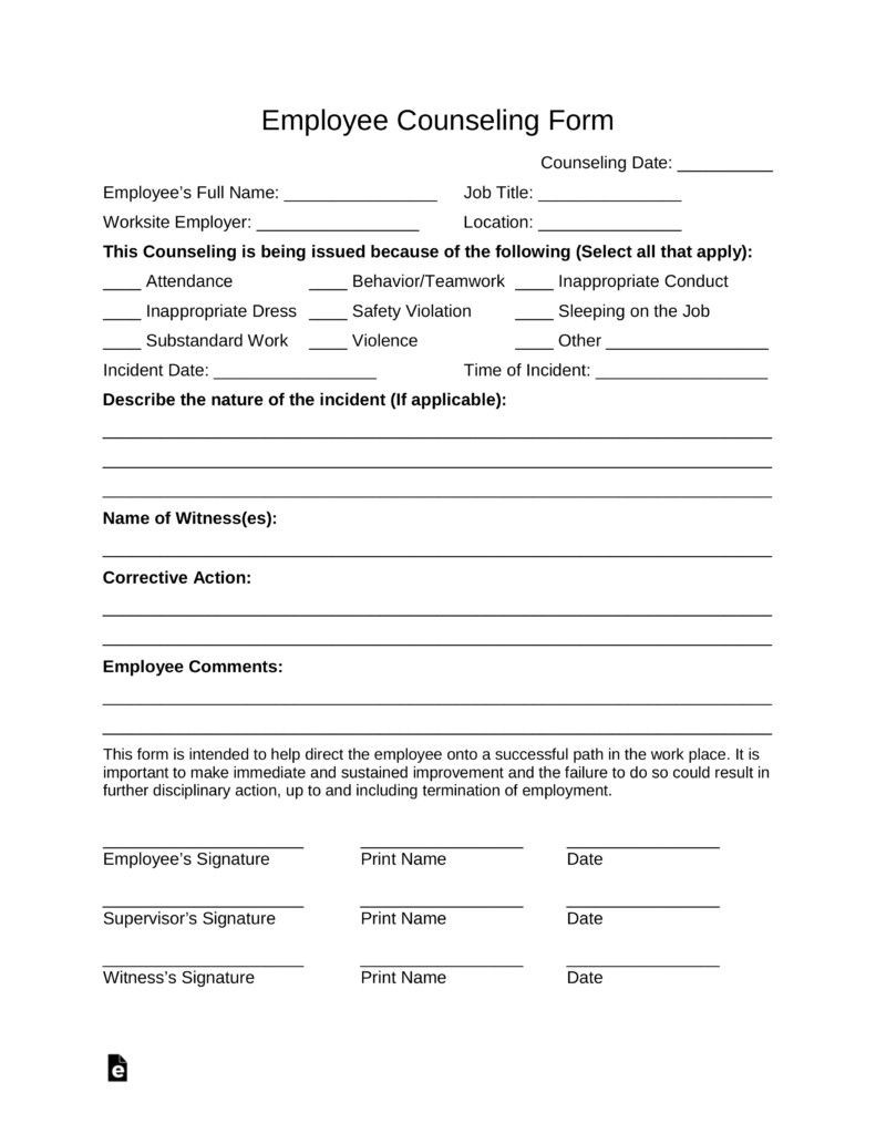 Counseling Treatment Plan Template Pdf Free Counseling forms Templates Inspirational Free Employee