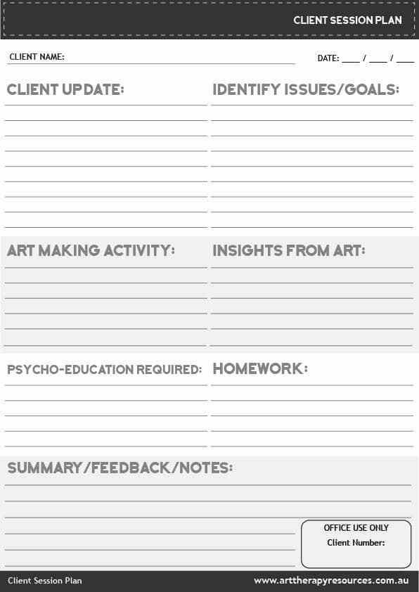 Counseling Treatment Plan Template What Happens In An Art therapy Session