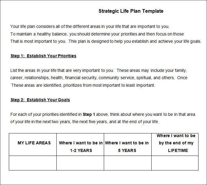 Create A Life Plan Template Pin On Kristi