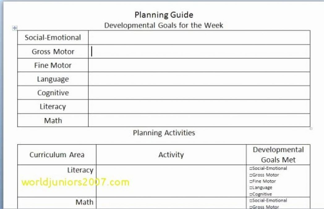 Creative Curriculum Lesson Plan Template Creative Curriculum Lesson Plan Template In 2020