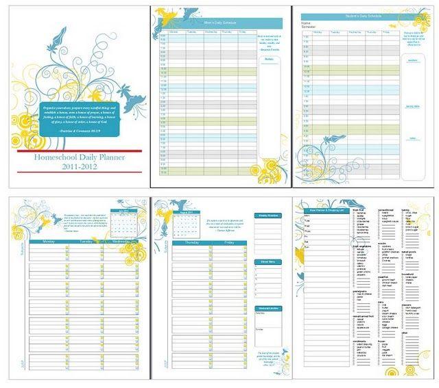 Curriculum Planner Template Free Homeschool Planner Including A Year Long Calendar Goal